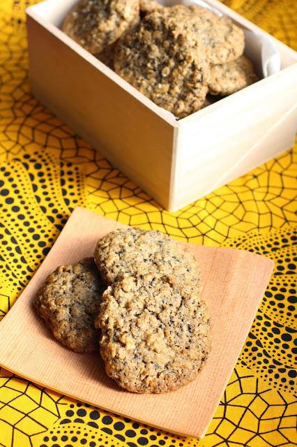 cookies croquants avoin sesame noir