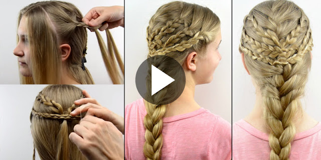 Learn - How To Create Triple Braided Boho Hairstyle, See Tutorial
