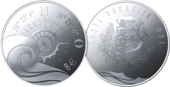 Estonia 8 euro 2021 - Hanseatic Pärnu