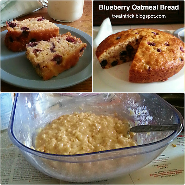 Blueberry Oatmeal Bread Recipe @ treatntrick.blogspot.com
