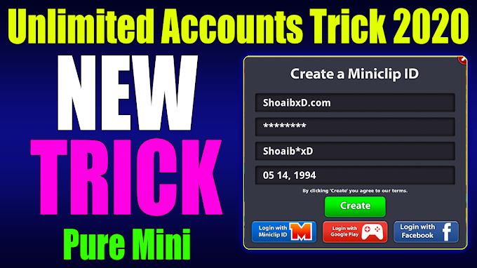 New Trick Unlimited  Pure Mini Accounts Trick 8 Ball Pool 14/5/2020