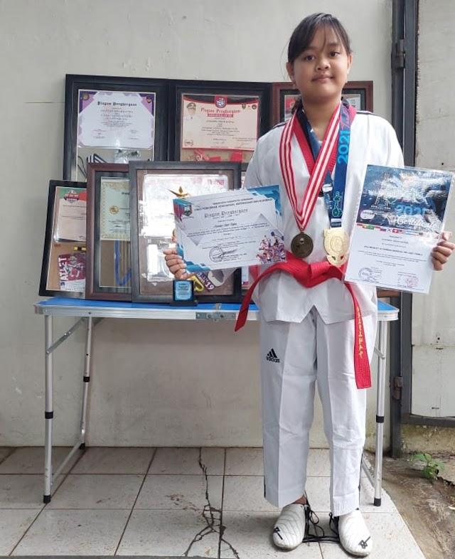 Istimewa, Sekar Rafina Boyong Empat Emas Taekwondo dalam Dua Puluh Hari