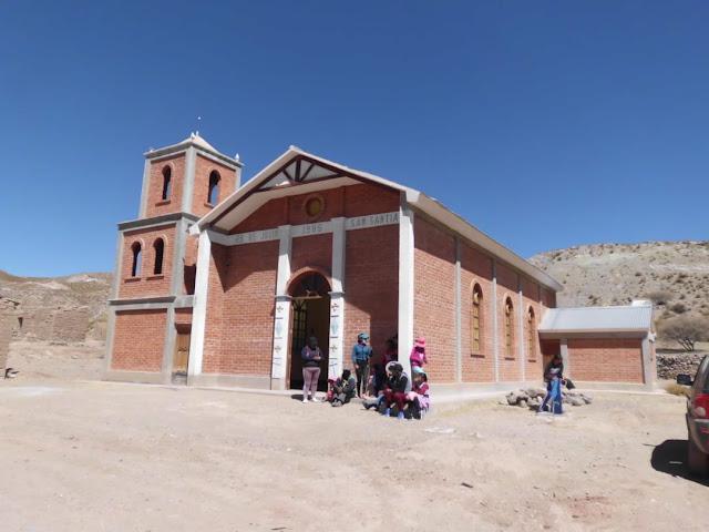 Die Kapelle von Río Mojón an der Grenze zu Argentinien