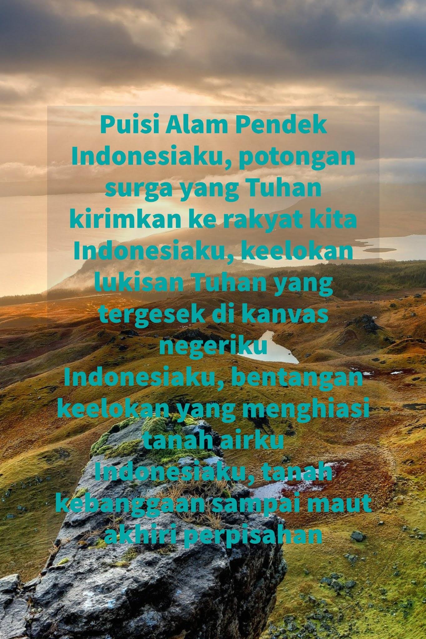 Puisi Tentang Keindahan Alam : puisi, tentang, keindahan, Puisi, Tentang, Keindahan, Indonesia, Sajak, Twitter
