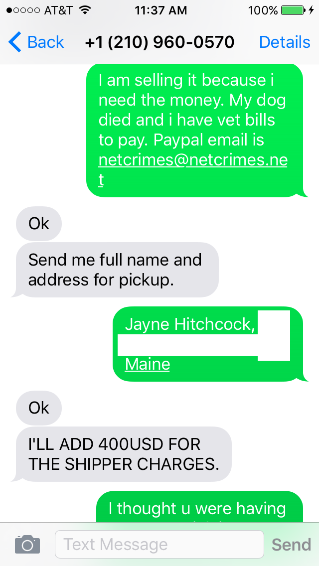 New Craigslist Scam Is Very Believable - Don't fall for it