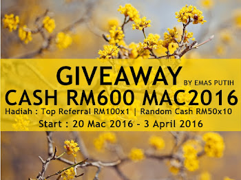 Giveaway Cash RM600 MAC2016 by Emas Putih