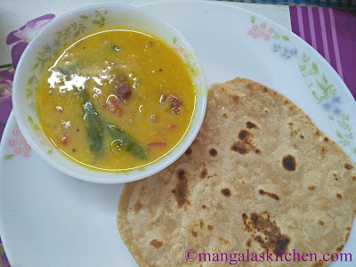 Chapathi and Dal Tadka