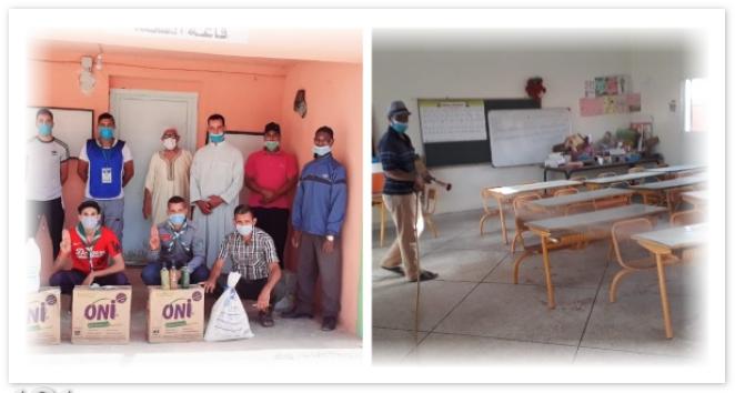قبيل أيام من الدخول المدرسي.. تعقيم مدارس بقيادة سيدي عبدالله أوموسى استعداد لاستقبال التلاميذ