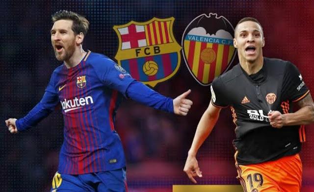 قناة مفتوحة تنقل مباراة نهائي كأس ملك اسبانيا بين برشلونة وفالنسيا
