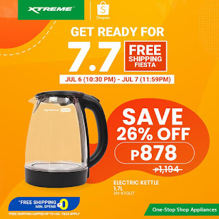 XTREMEappliances, 7.7 Shopee Free Shipping Fiesta, Glass Electric Kettle