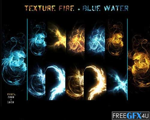 10 Water Fire Textures Pack