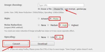 cara memperbesar resolusi foto atau gambar