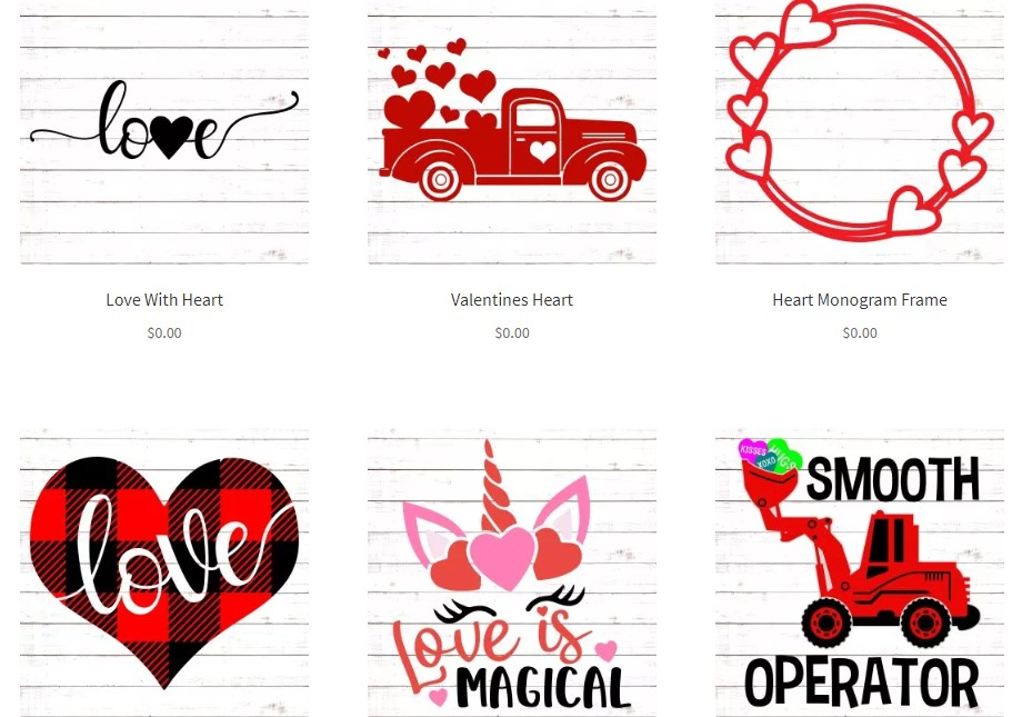 Free Cut Files For Valentines Day Projects