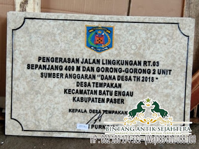 Harga Batu Marmer Untuk Prasasti, Prasasti Marmer Surabaya