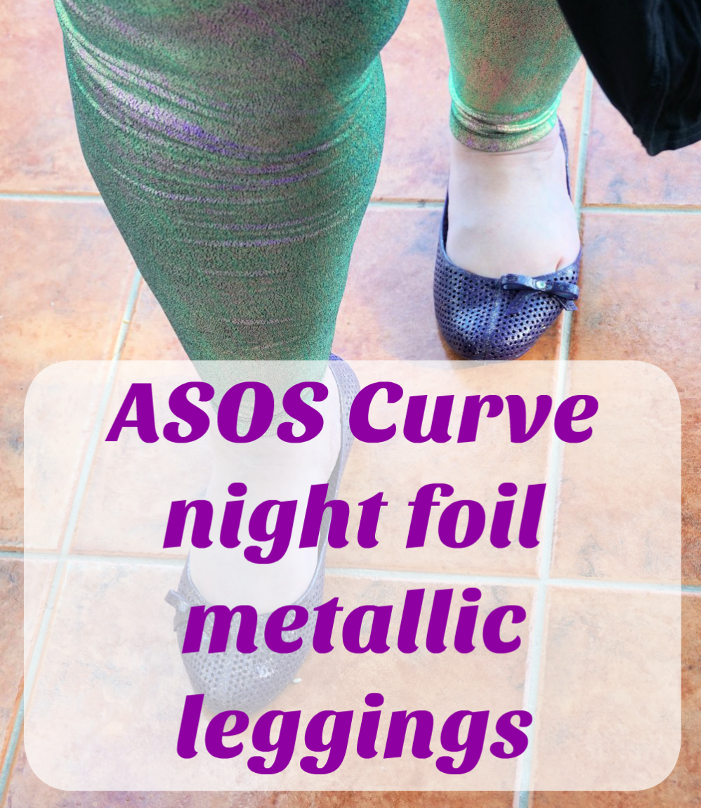 ASOS Curve night foil plus size metallic leggings