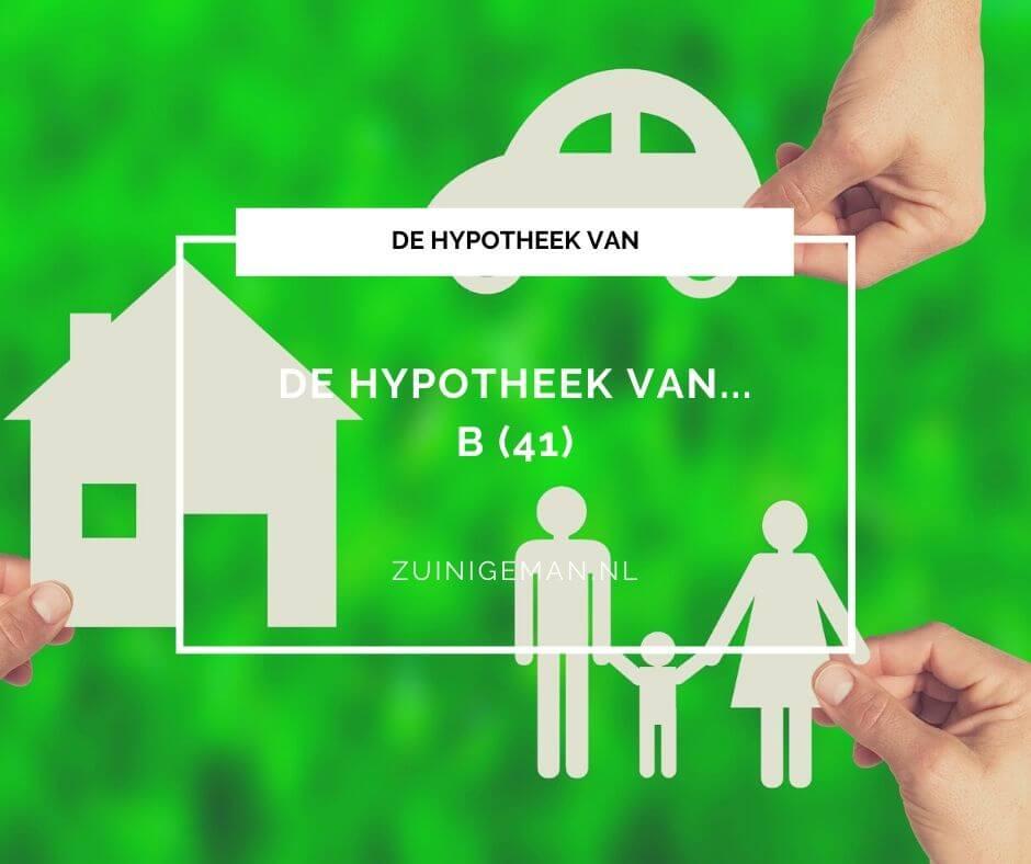De hypotheek van B (41), wil extra 3600 euro per jaar aflossen op de hypotheek