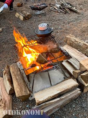 焚き火の図
