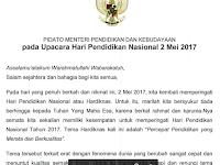 Pidato Mendikbud Muhadjir Effendi dalam Peringatan Hardiknas 2017