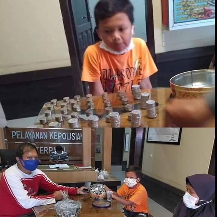 Inspiratif, Anak Tukang Bakso yang Masih SD Ini Sumbangkan Uang Jajan untuk Lawan Covid-19