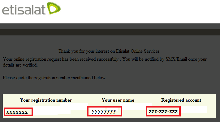 Etisalat Support: Etisalat Online Bill Registration Guide