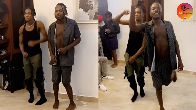 Nairamarley introduce a new dance with Lilsmart called WugeDance to the song As e dey go (videos)