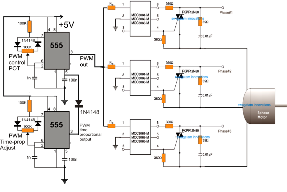 single phase ac motor speed control circuit