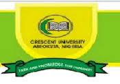Crescent University 2018/2019 Post-UTME/DE Admission Screening Form