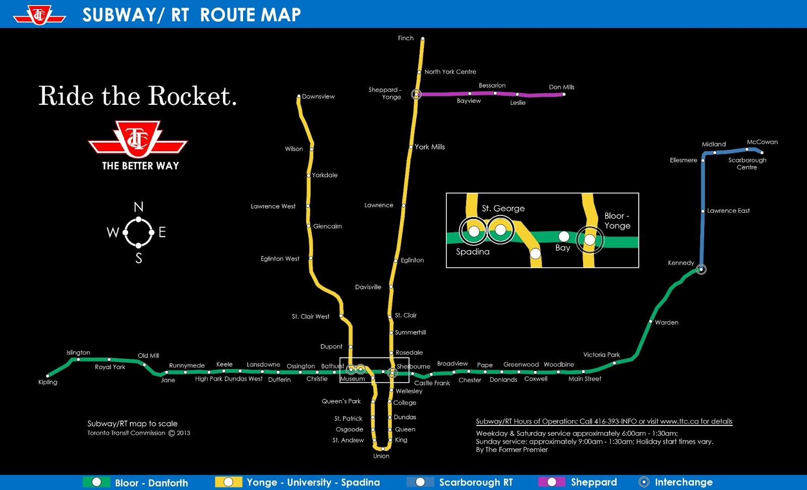 Ttc Route Map To Scale Toronto