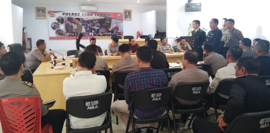 Berikut Hasil Lelang  7 Jabatan di Polres Tana Toraja