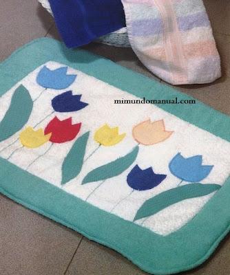Manualidades alfombra para ba o mimundomanual - Alfombras de bano originales ...