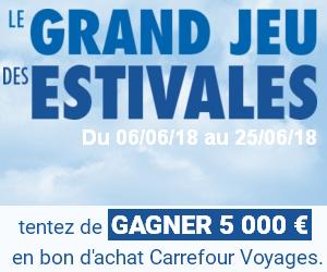 Gagnez 1 bon d'achat de 5000 euros pour un voyage
