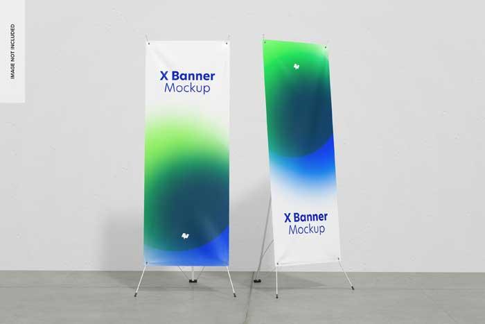 X Banners PSD Mockup