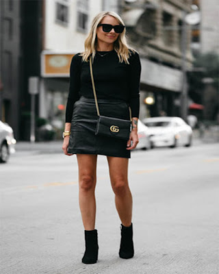 outfit negro casual elegante gucci
