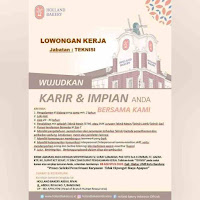 Lowongan Kerja Holland Bakery Bandung 2020