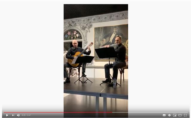 Eduardo Inestal y Guillermo Thomson en la Casa Lis