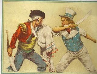 Caricatura de la época sobre la Guerra Hispano Estadounidense