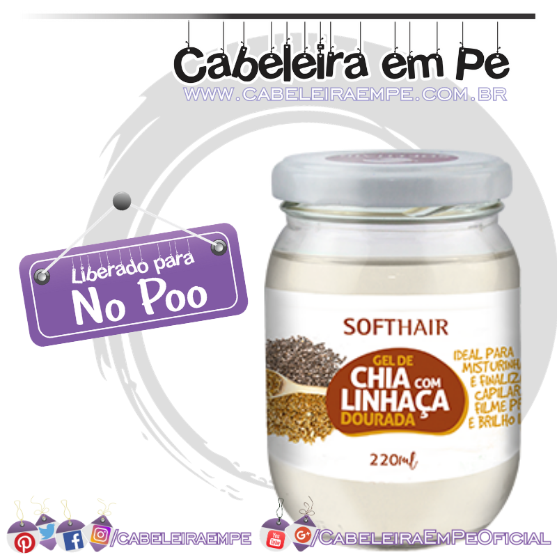 Gel de Chia com Linhaça - Soft Hair (No Poo)