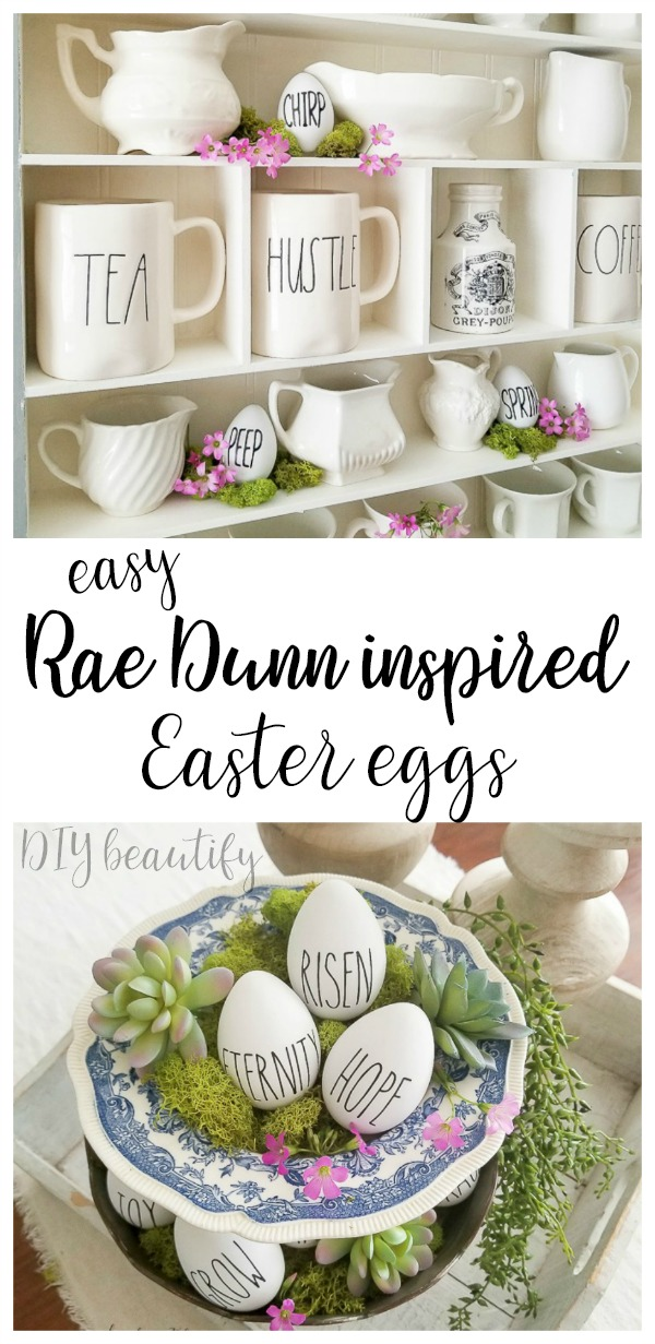 Rae Dunn Easter eggs
