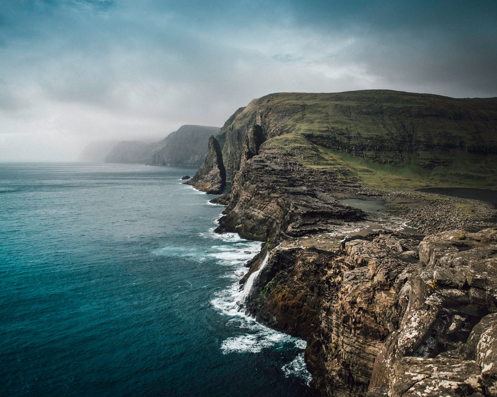 faroe islands slave cliff hike lake over the ocean liquid grain liquidgrain