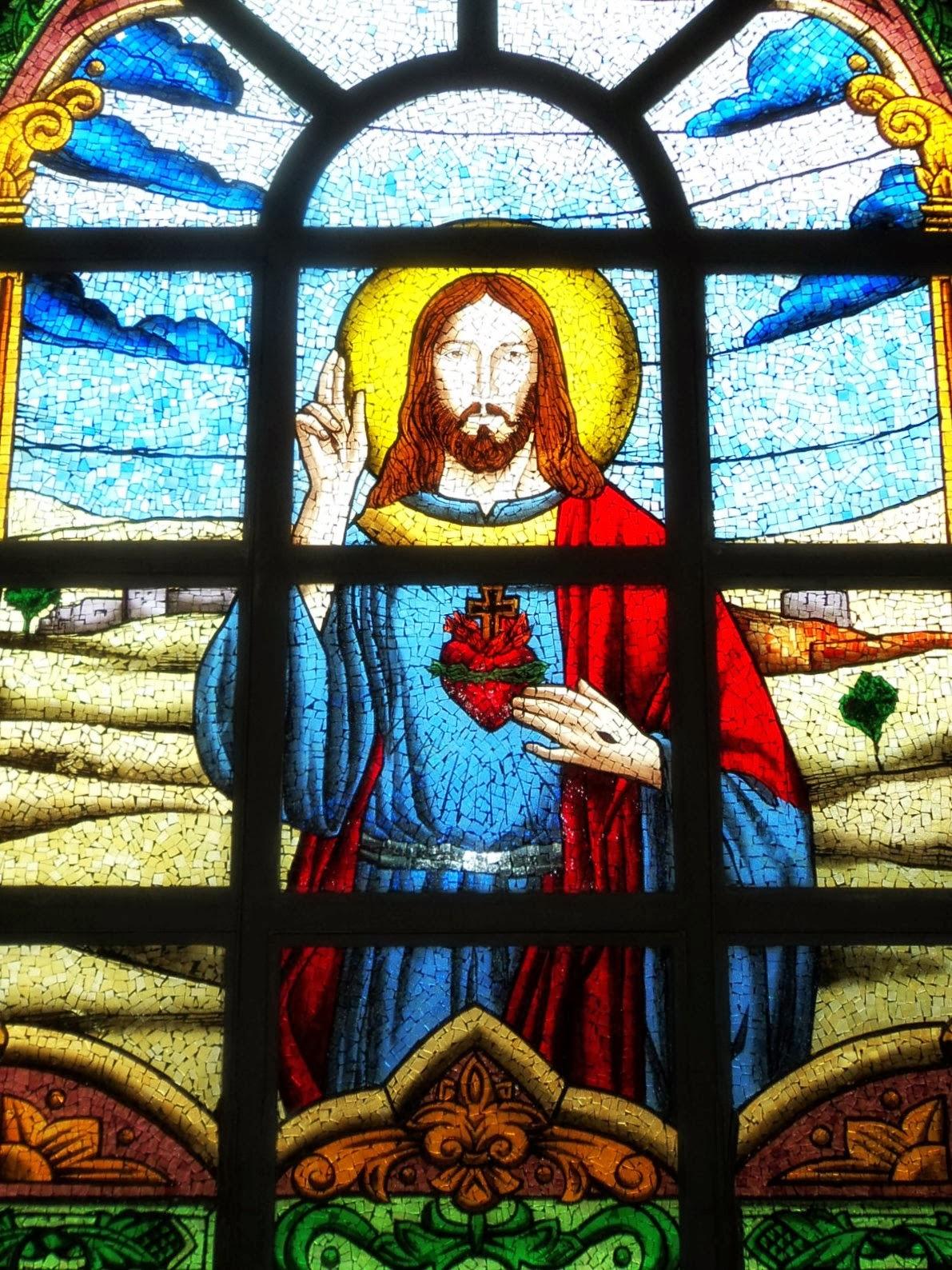 Cristo em Vitral da Igreja de Içara