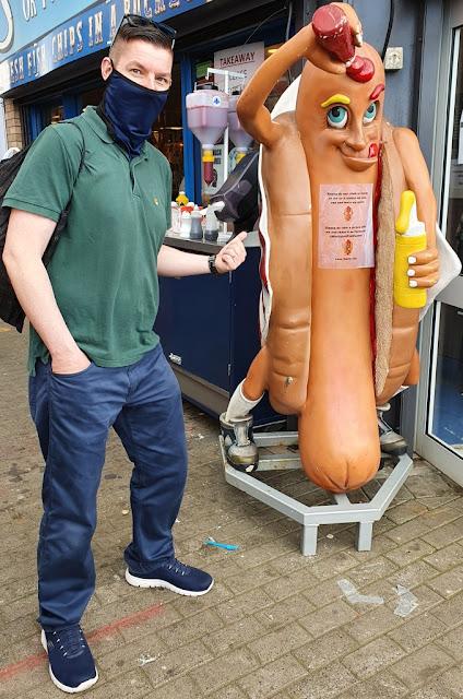Harry Hot Dog at Blackpool Fish Factory