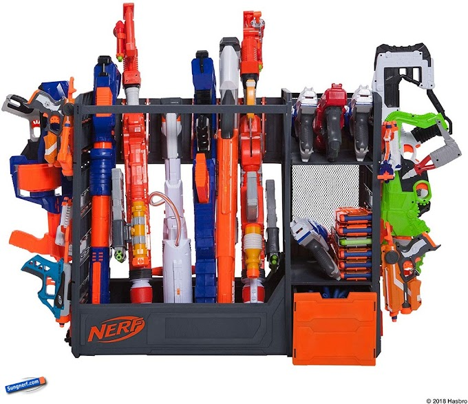 Kệ Cất Giữ Và Trưng Bày Súng Nerf Blaster Rack
