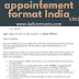 appointment letter format india doc