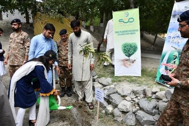 Tree Plantation Drive by Special Communications Organization (SCO) at Gilgi-Baltistan