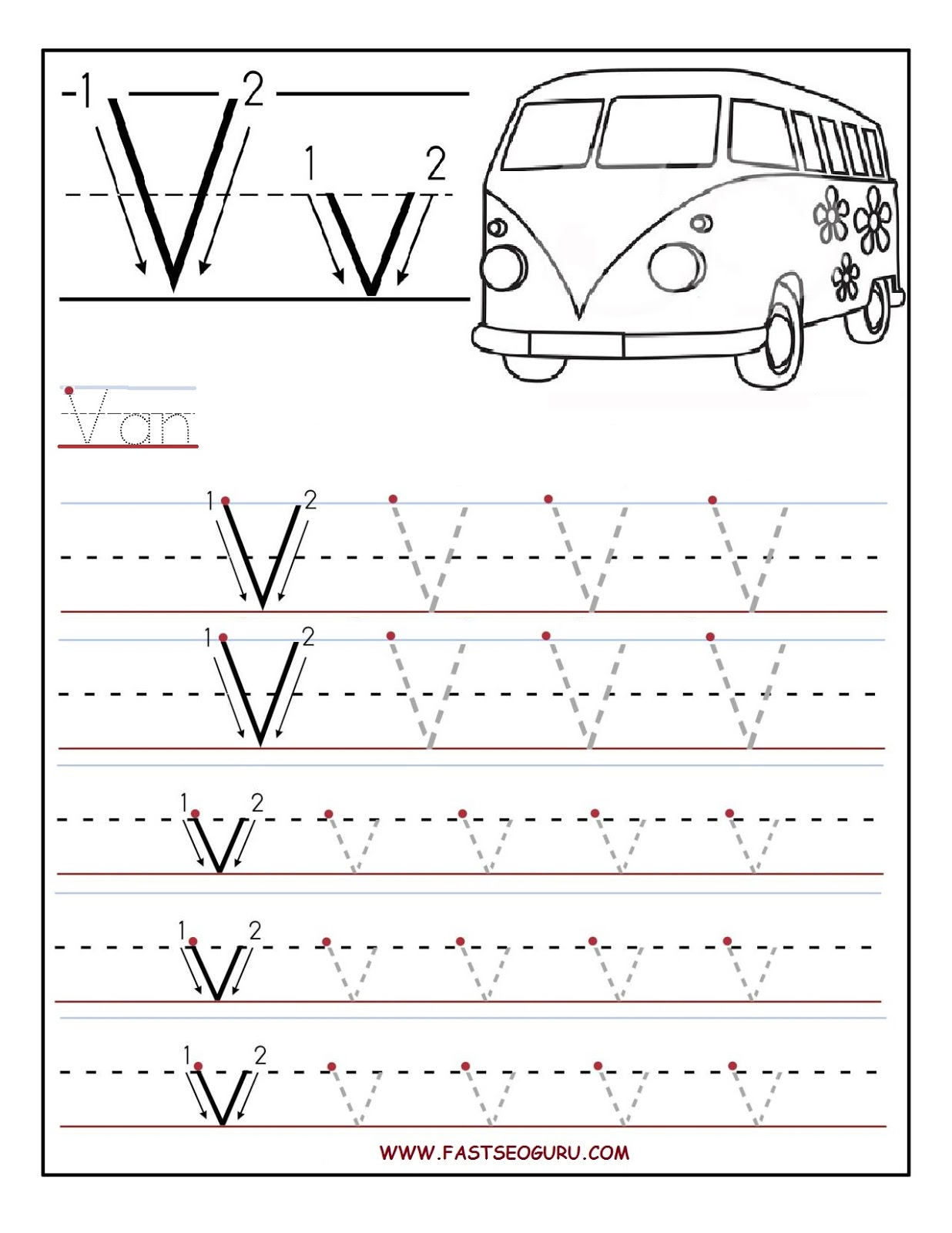 Tracing Activity Worksheet