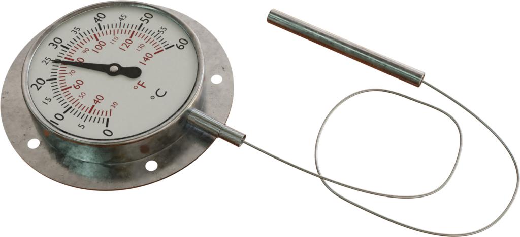 Termometer berisi cairan dengan tabung kapiler fleksibel
