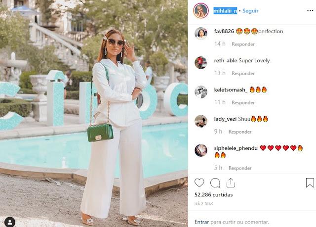 Mihlali Ndamase/Instagram