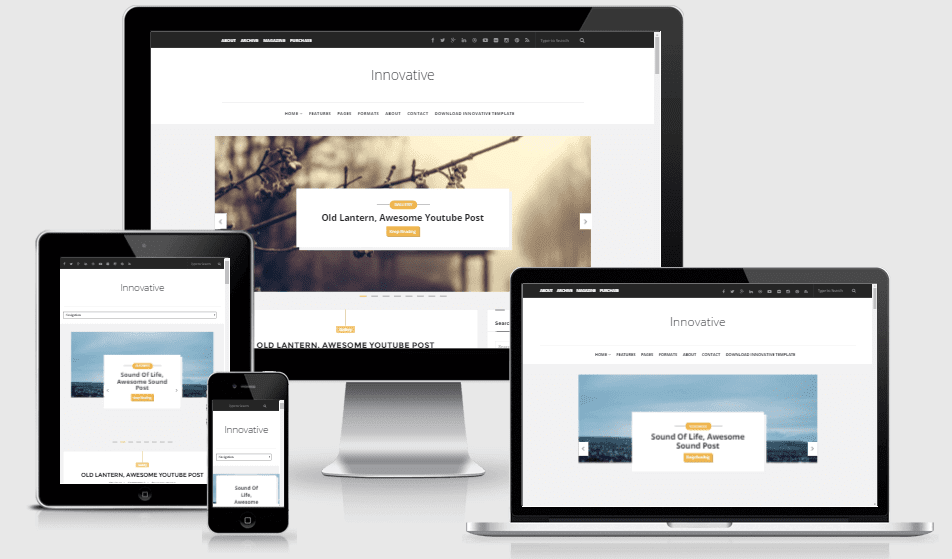 Innovative Responsive Fantastic Blogger Theme