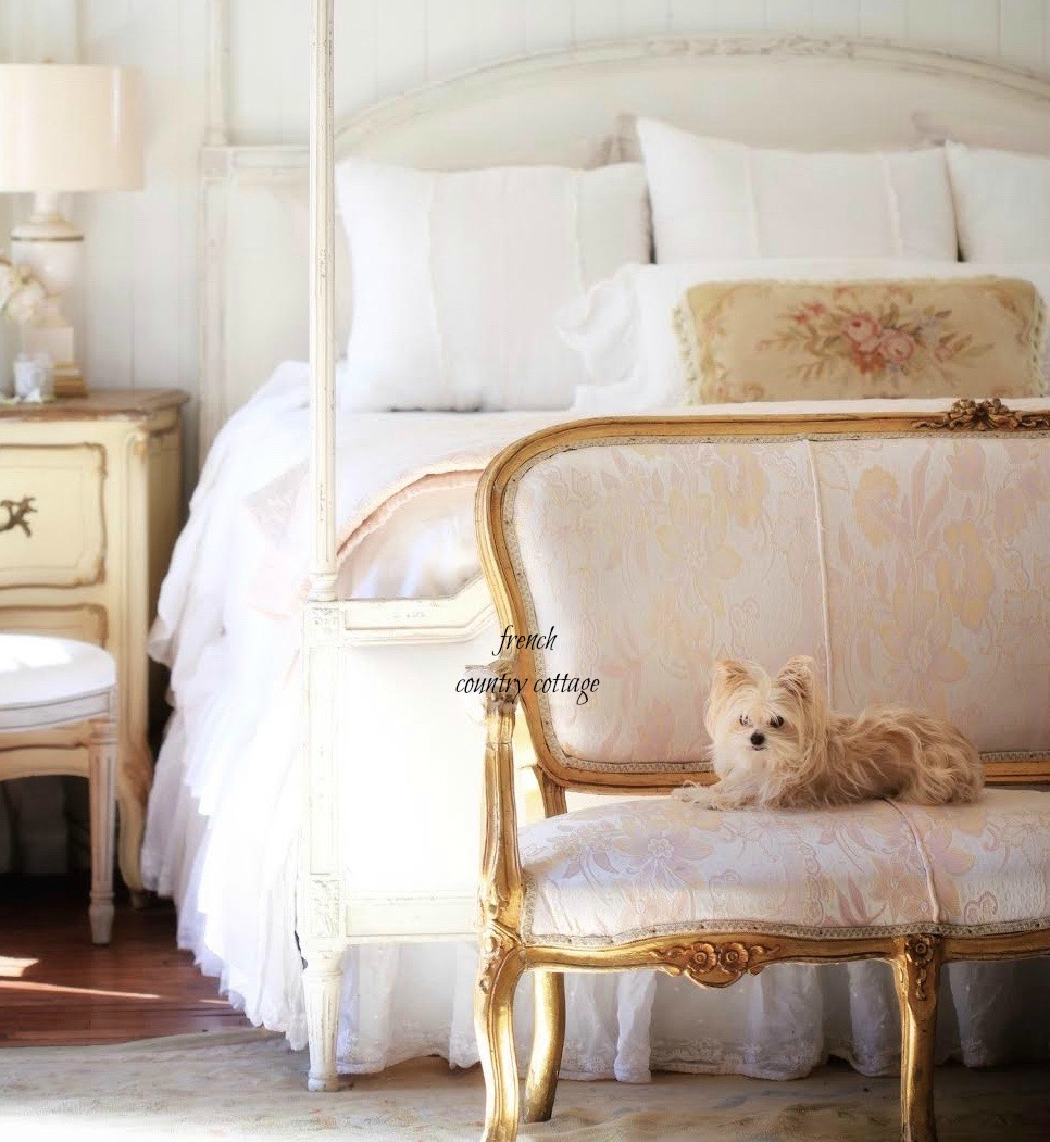 French style poster bed details - FRENCH COUNTRY COTTAGE