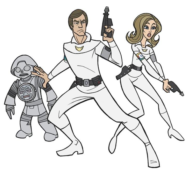 Pixel Atômico Classic Sci Fi Illustrations 8 Boris Vallejo: Pixel Atômico: The Two Greatest Space Heros! Hail Buck